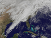 satellite image of cloud cover over Gulf of Mexico and eastern United States