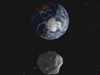 Artist's concept of Earth and asteroid 2012 DA14