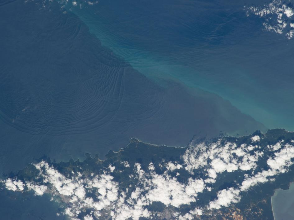 Internal waves off Northern Trinidad