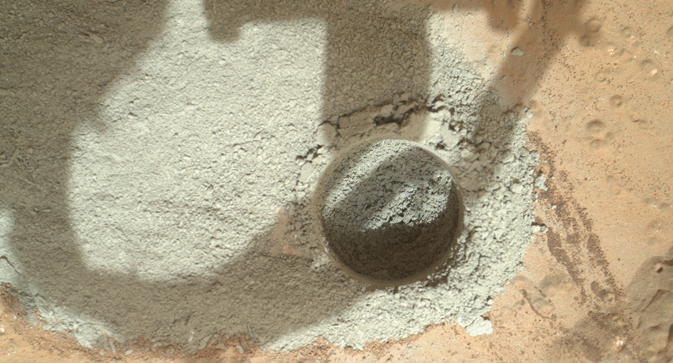 Preparatory test of drilling on Mars