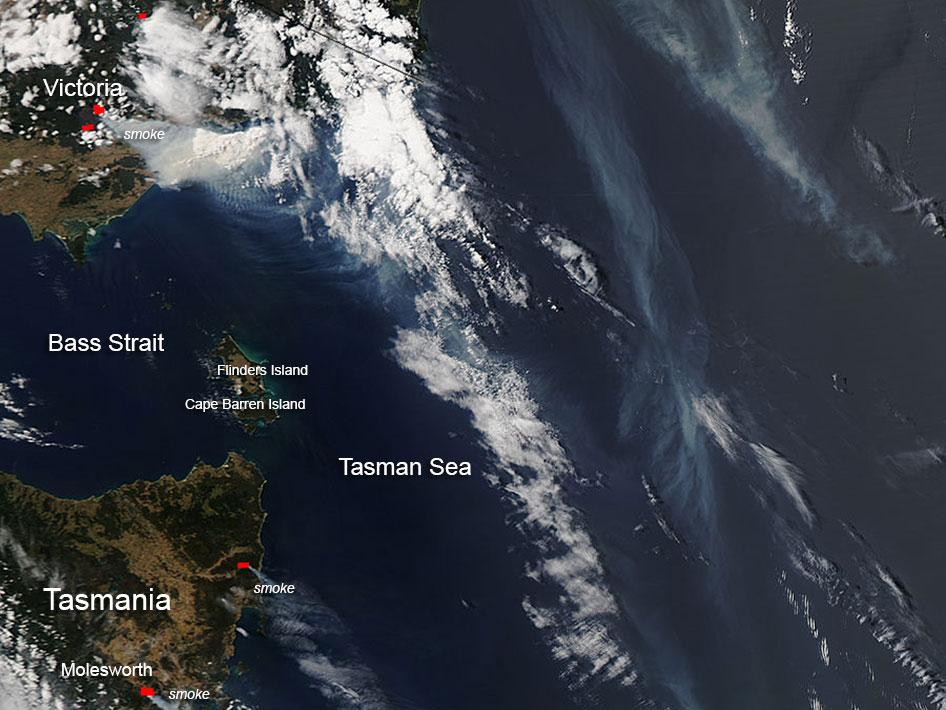 Fires in Victoria and Tasmania, Australia