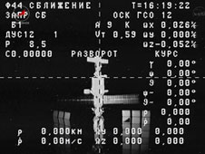 View of space station from Progress