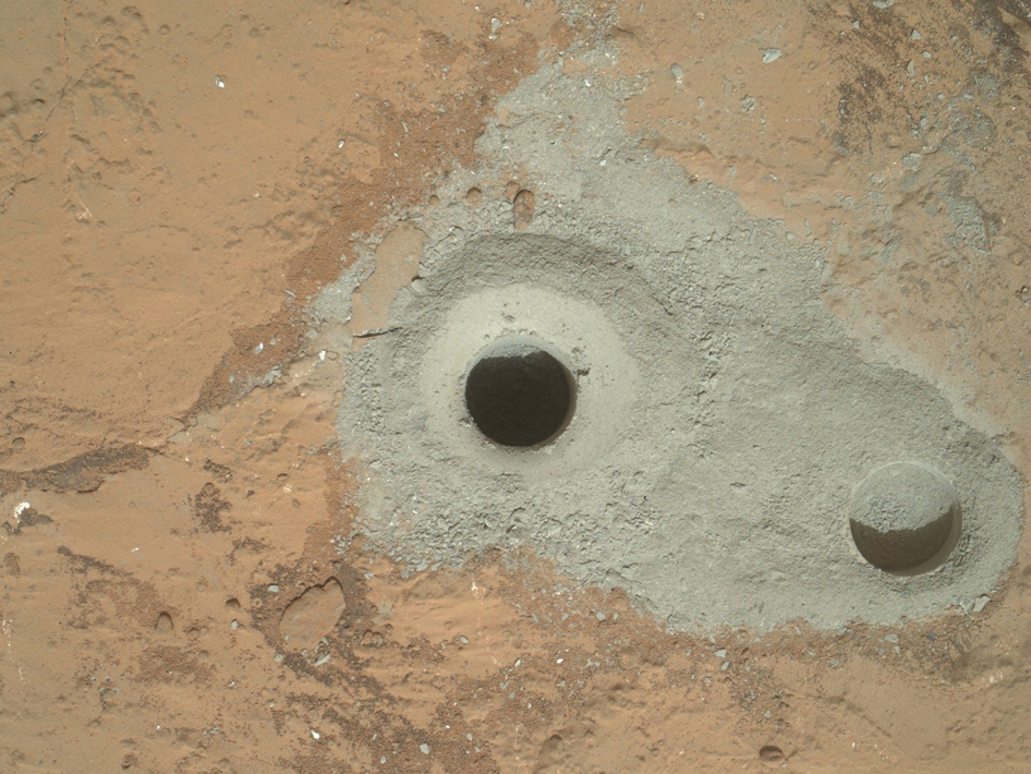 Curiosity's first sample drilling