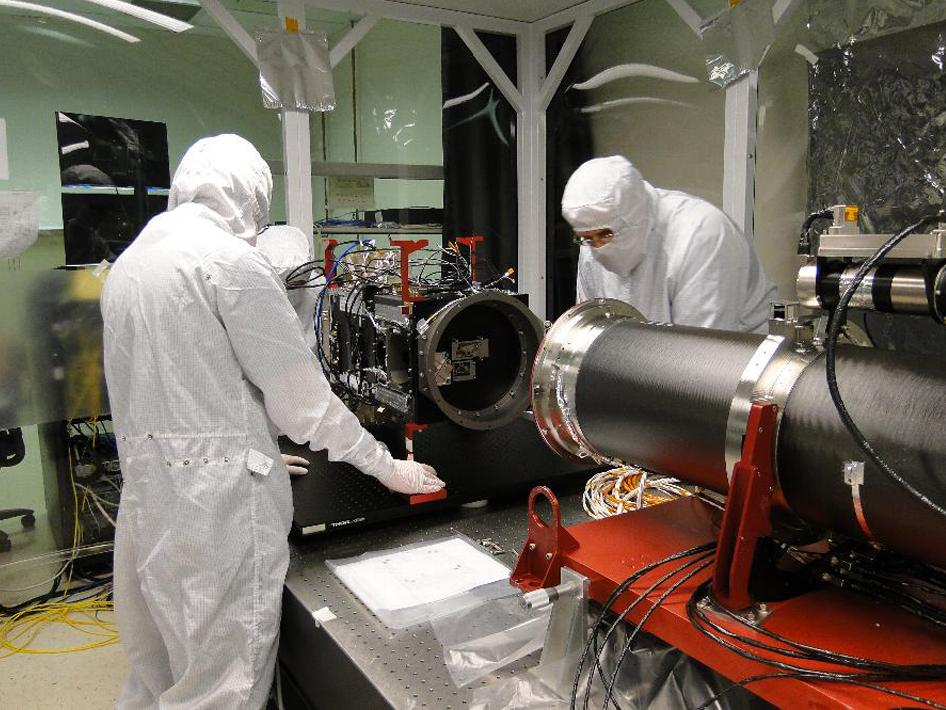 IRIS' main telescope is ready to be mated to the back-end electronics