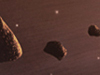 Artist's concept of asteroids