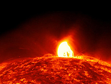 On July 19, 2012, an eruption occurred on the sun that produced 3 results; 1) a moderately powerful solar flare, 2) a CME and 3) coronal rain.