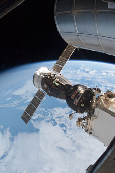 ISS034-E-045758: Soyuz docked to International Space Station
