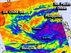 AIRS image of Tropical Storm 02W