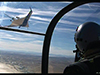 A view from a NASA chase plane during a test flight of the blended wing body X-48B remote-piloted vehicle in April 2008. Image credit: NASA Dryden/Lori Losey