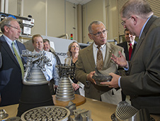 Administrator Charles Bolden tours the NASA National Center for Advanced Manufacturing at the Marshall Space Flight Center on Feb. 22, 2013. Credit: NASA