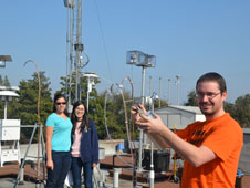 Researchers from University of California Davis worked at the Fresno ground site during the DISCOVER-AQ California 2013 mission.