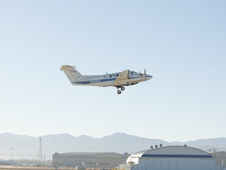 NASA's B200 King Air, a smaller higher altitude aircraft from NASA's Langley Research Center in Hampton, Va., collected data while flying level at 26,000 feet during the DISCOVER-AQ mission.