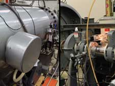 To simulate damage from solar wind particles and cosmic rays, scientists in Goddard's Cosmic Ice Lab irradiate ice with this Van de Graaff accelerator.
