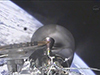SpaceX Dragon capsule in orbit. Image Credit: NASA TV