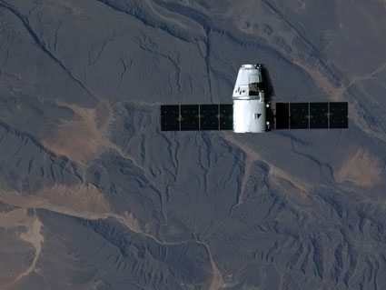 SpaceX Dragon approaches International Space Station