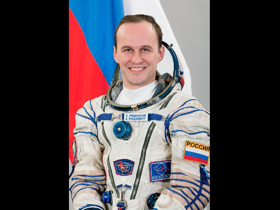 Backup Flight Engineer Sergei Ryazanskiy