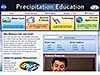 Screenshot of the Precipitation Education Website