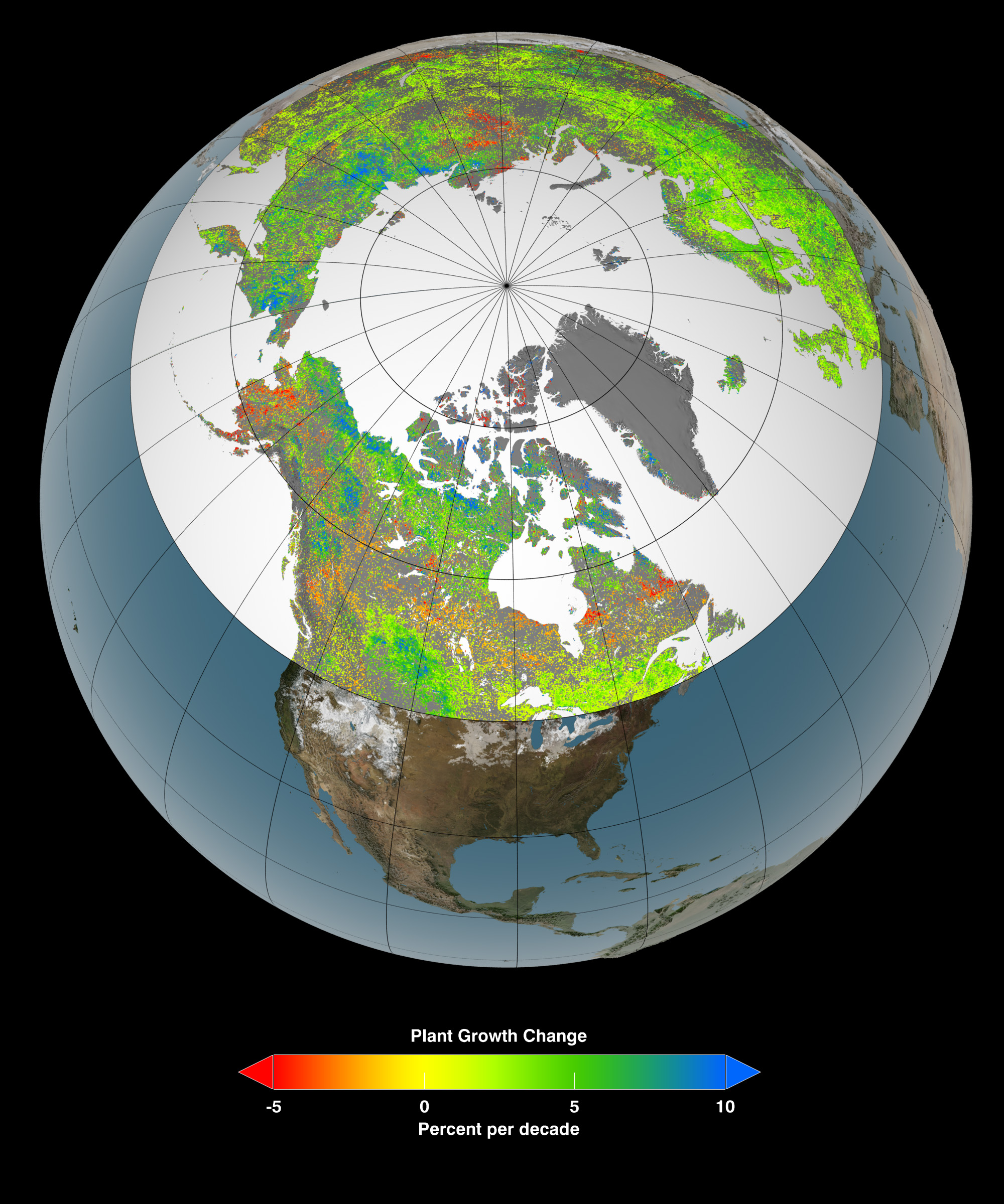 Global warming is making the Arctic greener, study finds ...