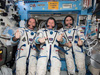 iss034e061657 -- Commander Kevin Ford and Flight Engineers Oleg Novitskiy and Evgeny Tarelkin