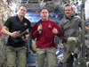 Flight Engineer Tom Marshburn, Commander Kevin Ford and Flight Engineer Chris Hadfield