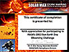 The 2013 Observing Challenge certificate