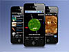 Three iPhones displaying space weather apps