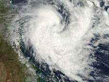 MODIS image of Tim