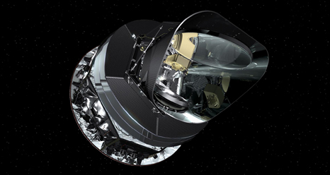 This is an artist's concept of the Planck spacecraft