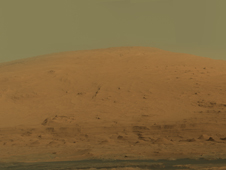 Raw panorama image of Mount Sharp