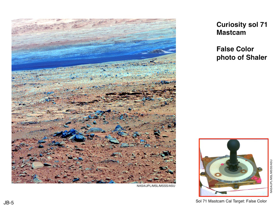 Using False Color from Curiosity's Mast Camera