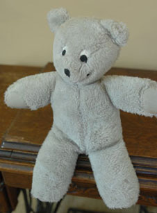 Teddy bear made by Karen Nyberg
