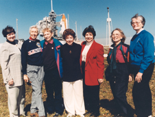 Members of the First Lady Astronaut Trainees (FLATs, also known as the