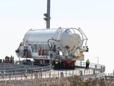 Antares is being rolled back to the HIF.