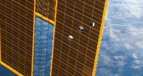 Cubesats being deployed from the JEM airlock 10-4-12