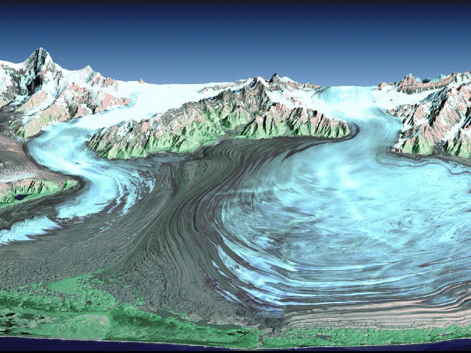 NASA - Malaspina Glacier in Southeastern Alaska