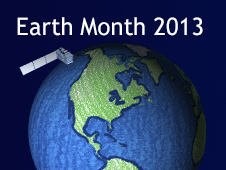 NASA Earth Month 2013 graphic.