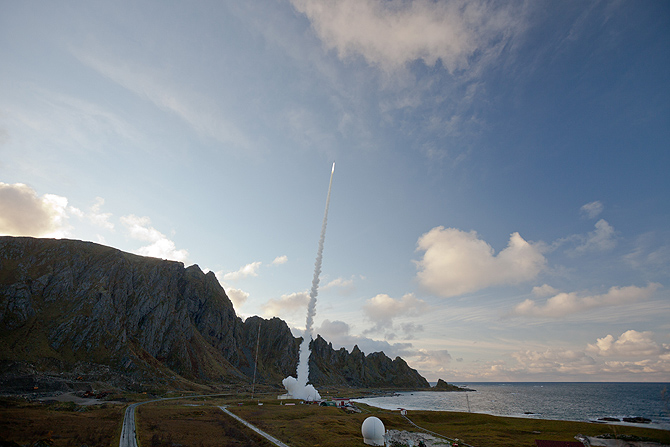 NASA - NASA Sounding Rocket Observes the Seeds of Noctilucent Clouds