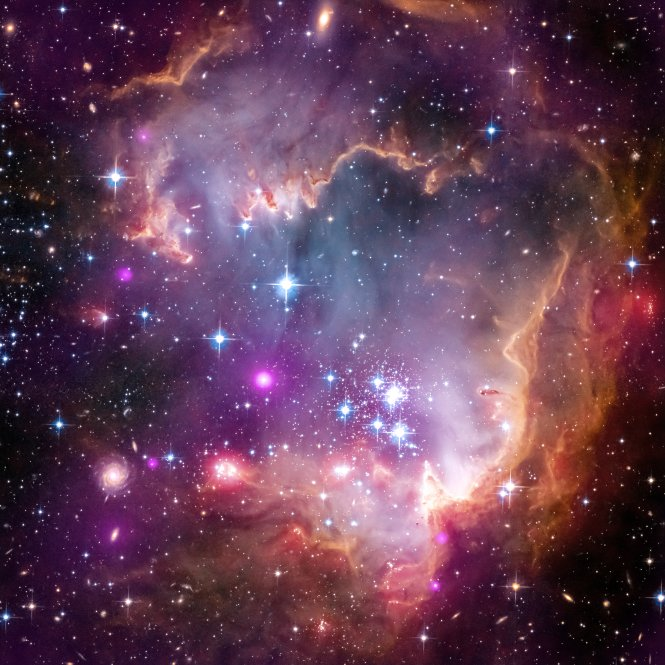 Star formation in NGC 602, part of the wing region of the Small Magellanic Cloud, a dwarf galaxy