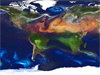 portrait of global aerosols from a computer simulation