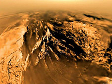 A view of Titan from Huygens