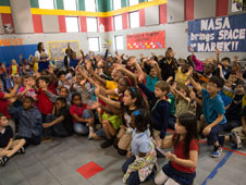 JSC2013-E-022017:  Students at Mary Marek Elementary School in Pearland, Texas