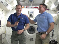Astronauts Tom Marshburn (left) and Chris Cassidy