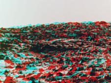 Freeze frame from Mars in 3D of Martian terrain