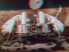 Freeze frame from Mars in 3D film