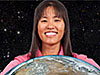 Alexandra Chau holds Earth
