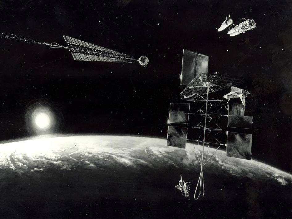 Artist's concept of a mission to an Earth-approaching asteroid.
