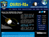 screenshot of AU-LPL's OSIRIS-REx website