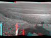 Opportunity overlooking Endeavour Crater, stereo view