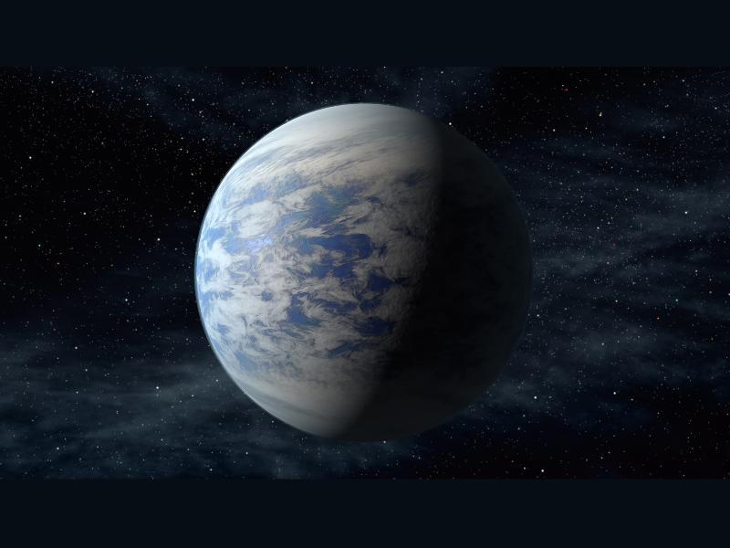 Illustration de la super-Terre - ou super-Vénus - Kepler-69c