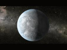 An artist's concept of Kepler-62e.